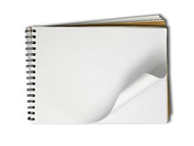Blank page Sketch book on white background Stock Photography
