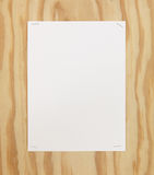 Blank Page on Wood Wall Royalty Free Stock Image