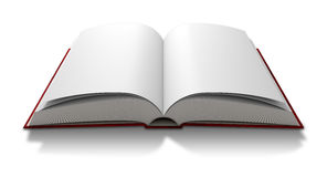 Blank Paged Book Open stock illustration