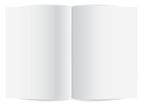 Blank pages inside of book Royalty Free Stock Photography