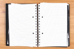Blank pages notebook Stock Image