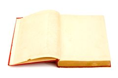Blank pages of a old book Stock Images