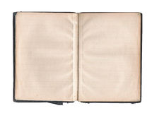 Blank pages in old book Stock Image