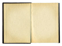 Blank pages in an old book Royalty Free Stock Image