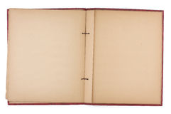 Blank Pages of an Old Scrap Book Royalty Free Stock Photography