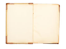 Blank pages of an open 19-th century book Royalty Free Stock Photography