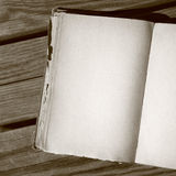 Blank pages in sepia Stock Photography