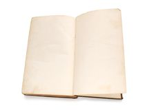 Blank pages of vintage book Stock Photography