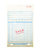 Blank paid invoice Royalty Free Stock Images