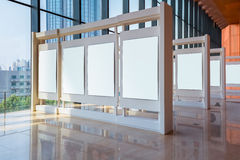 Blank panel in exhibition hall Royalty Free Stock Photography