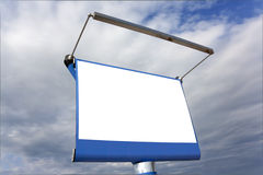 Blank panel on the highway Stock Photography