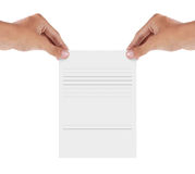 Blank paper Royalty Free Stock Photo