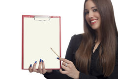Blank paper Royalty Free Stock Photography