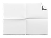 Blank Paper. Isolate onwhite background Royalty Free Stock Photos