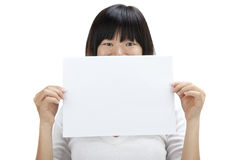 Blank paper for advertisment Stock Photos