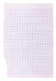 Blank paper background - blue grid pattern Stock Image