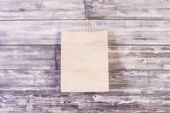 Blank paper bag Stock Image