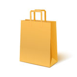 Blank paper bag isolated on white background Royalty Free Stock Photos