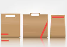 Blank paper bag set on white background Royalty Free Stock Photography