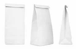 Blank paper bags stock photos