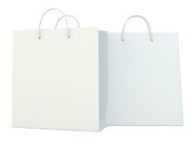 Blank paper bags set isolated on white background. 3d rendering. Blank paper bags set isolated on white background. 3d rendering Stock Image