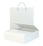 Blank paper bags set on white background. 3d rendering. Blank paper bags set on white background. 3d rendering Stock Image