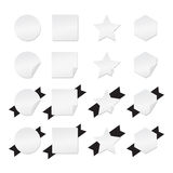 Blank Paper Banners, Circle Rectangle Star and Hexagon - Isolated Vector Illustration Royalty Free Stock Image