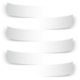 Blank paper banners with shadows background Stock Photos