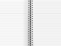Blank paper binder Stock Image