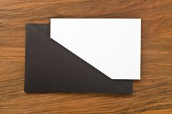 Blank paper in black folder Royalty Free Stock Photography
