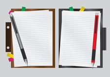 Blank Paper with Board and Pen Vector Royalty Free Stock Photos