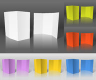 Blank paper booklets collection Stock Image
