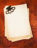 Blank paper with boxer weapon as background Stock Images