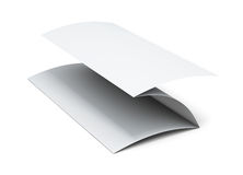 Blank paper brochure. 3d illustration on white background.  Royalty Free Stock Photography