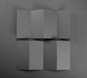 Blank paper brochure on gray background. Stock Photo