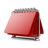 Blank paper calendar. 3D Icon  Royalty Free Stock Image