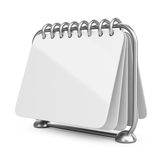Blank paper calendar. 3D Icon. On white background Stock Image
