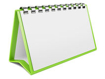 Blank paper calendar. 3D image Stock Image