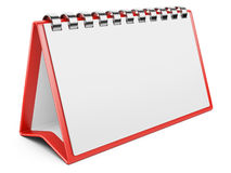 Blank paper calendar. 3D image Royalty Free Stock Image