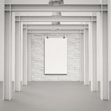 Blank paper card 3d Royalty Free Stock Images