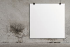 Blank paper card 3d Royalty Free Stock Image