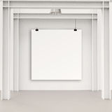 Blank paper card 3d Royalty Free Stock Photos