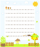 Blank paper with chickens Royalty Free Stock Photos