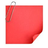 Blank paper with clip Stock Photos