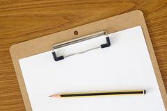 Blank paper on a clipboard Royalty Free Stock Image