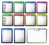 Blank paper on clipboards. Illustration Royalty Free Stock Image