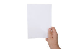 Blank paper with clipping paths stock images