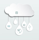 Blank paper cloud computing. Stock Image