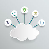 Blank paper cloud computing.Social networks. Royalty Free Stock Photography