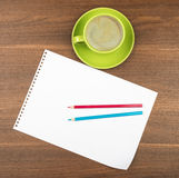 Blank paper with coffee Royalty Free Stock Photo